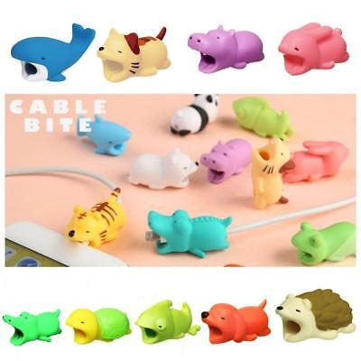 Cartoon Phone Protector Soft Cord Cute Animal Cable Bite Accessories LE