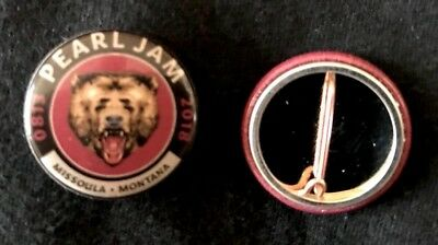 Pearl Jam Missoula Montana Grizzly Bear Authentic Metal 1 Inch Pin Back 8 13 18