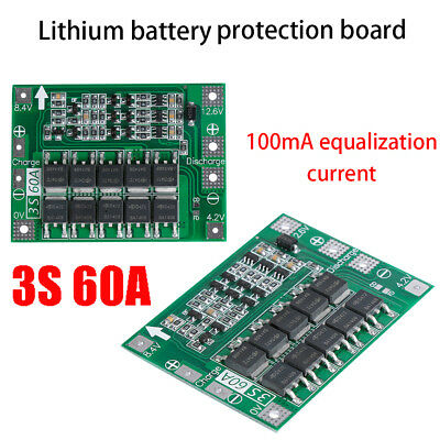 3S 60A 18650 Li-ion Battery Charger Module PCM BMS Protection Charging Board New