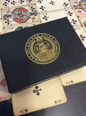 Golden Spike Black Ink Limited Edition Two Deck Custom Poker Playing Card Set