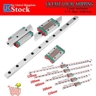 MGN12 Sliding Block Linear Guide Rail 250 300 350 400 500 550mm CNC H Laser Tool