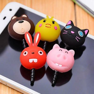 1pc Kawaii Cute Animals Cell Phone Anti Dust Plug Cap Random AU