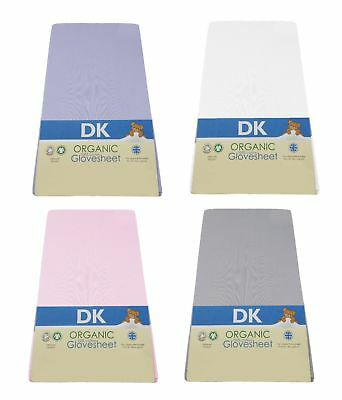 DK Glovesheets GOTS Organic Cotton Fitted Cot Sheet 127 x 63cm (Fits M&P 300)