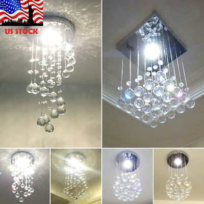 Modern LED Ceiling Lamp Crystal Chandelier Pendant Lighting Fixture Room Porch