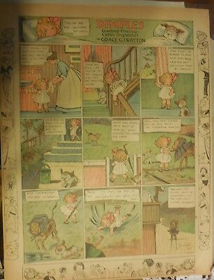 Dimples Sunday Page by Grace Drayton from ?/1915 Large Rare Full Page Size!
