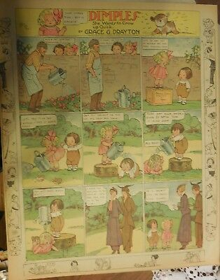 Dimples Sunday by Grace Drayton from ?/1914 Large Rare Full Page Size!