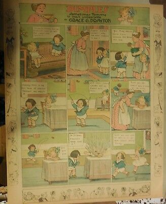 Dimples Sunday by Grace Drayton from ?/1915 Large Rare Full Page Size!