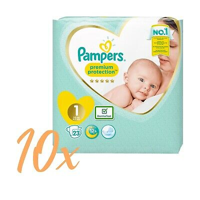 Pampers Premium Protection New Baby, Gr. 1 , 2-5kg , 10 x 23 Stück = 230 Windeln