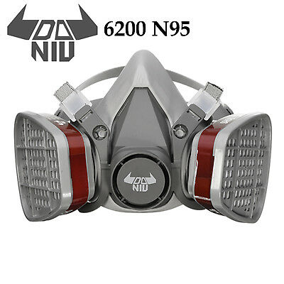 DANIU 6200 N95 Double Gas Filter Half Face Respirator Safety Mask Spray Painting