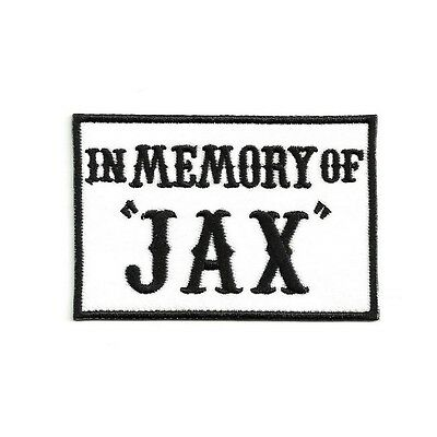 Ecusson IN MEMORY OF JAX Outlaw Anarchy Patch Aufnäher Parche Toppa biker sons