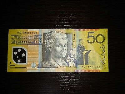 Australian $50 Polymer Bank Note DOUBLE MIRROR *RARE* CA 12 321123