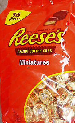 Reese's Classic Milk Chocolate Peanut Butter Cups Miniatures 56 Oz (1.58kg) New