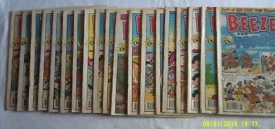 18 Vintage Beezer and Topper Comics January to June 1992