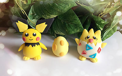 """NEW Baby Pokémon GO """" Pichu Togepi and Egg """" Edible Cake Toppers"""