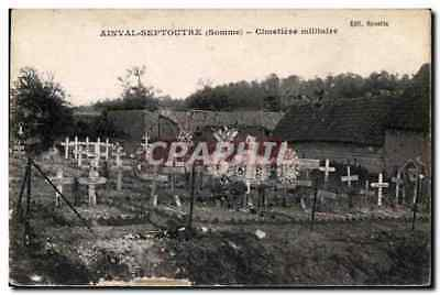 CPA Ainval Septouter (Somme) Cimetiere militaire Militaria