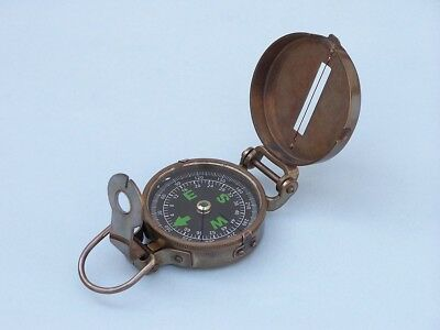 Antique Brass Military Compass 4""