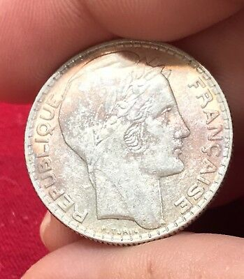 1938 France 10 Francs Silver Coin
