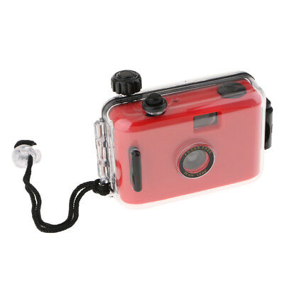 Waterproof Lomo 35mm Film Camera with Case, 16ft Underwater, Reusable, Red