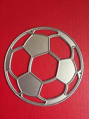 NEW• SOCCER BALL FOOTBALL Sports DIE For Use With Cuttlebug Or Sizzix