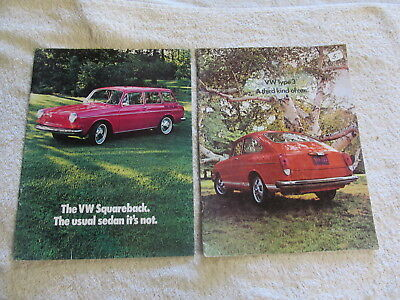 Volkswagen Type 3 Squareback & Fastback Sales Brochures,  1970 Or 1971?