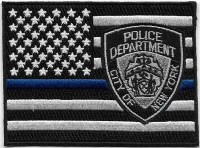 New York City Police Blue Line Flag Swat Tactical Subdued Sheriff Pd Nyc Patch