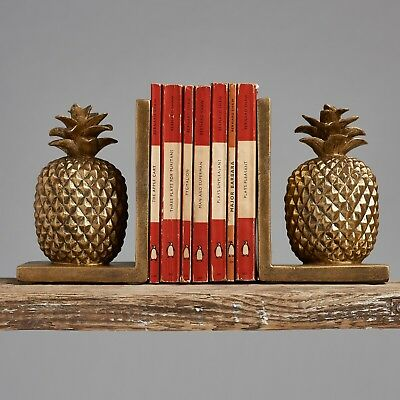 Set of Gold Pineapple Bookends