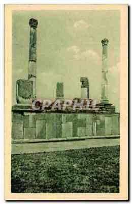 Vintage Postcard Timgad Platform in Harangues Of the Forum