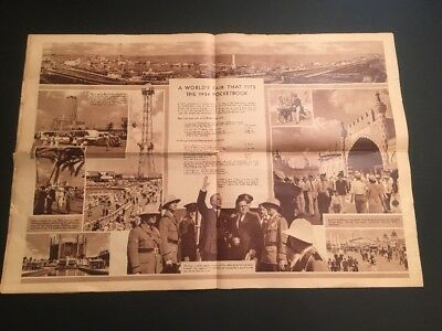 Vintage A World's Fair That Fits The 1934 Pocketbook Chicago Illinois