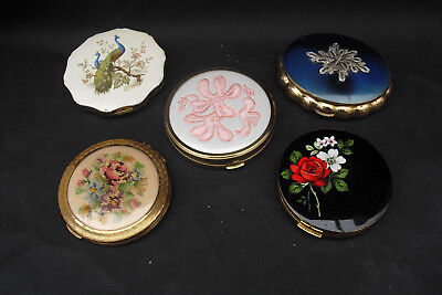 5 vintage compacts by Kigu, Melissa etc inc musical and tapestry