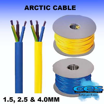 Arctic Grade Blue Or Yellow 3183 Flex Cable 3 Core 1.5, 2.5, 4Mm Caravan Camping