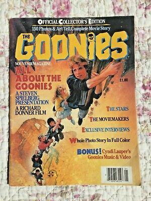 The Goonies Official Collector's Edition vintage  Magazine 1985 Speilberg