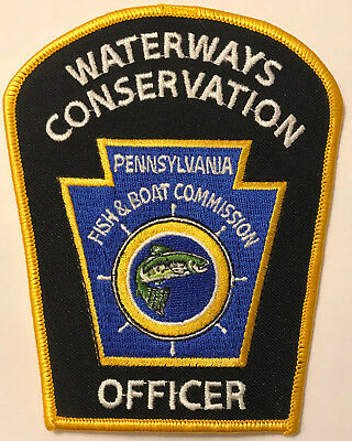 Pennsylvania PA Waterways Conservation Fish Boat Officer Game Warden Park Patch