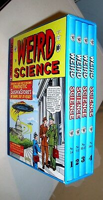 WEIRD SCIENCE VOLUMES 1 2 3 4 FULL BOX SET PRE-CODE REPRINTS Free Shipping