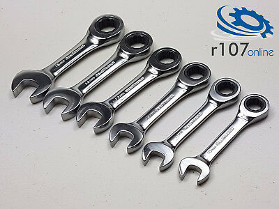 Genuine Gearwrench Stubby Ratchet Spanners. 10-15mm Wrench Set