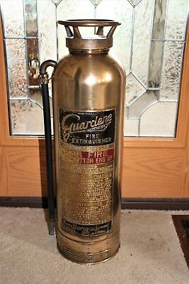 Vintage Guardene Brass Fire Extinguisher Very Good Condition
