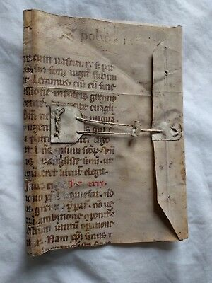 13th-century Italian Breviary: half-leaf of a medieval manuscript in Latin