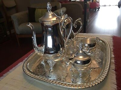 Silver Plated Coffee and Tea Service Made in Germany