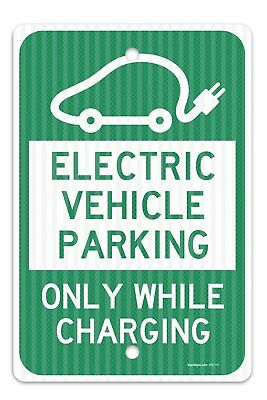 """Electric Vehicle Parking Sign, Federal 12""""x18"""" 3M Prismatic Engineer Grade Refle"""