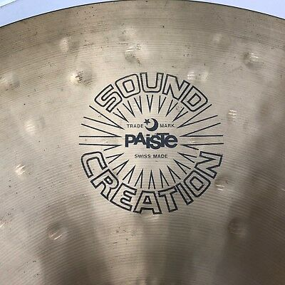 "PAISTE Sound Creation Bell Ride 20"" vintage black label"