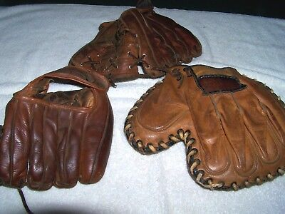 Lot Of Vintage Baseball Gloves,MacGregor, Stall & Dean and 1 unknown