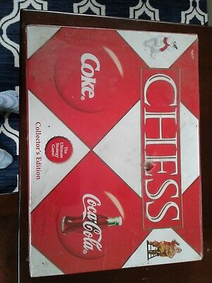 NEW coca cola collectible chess game