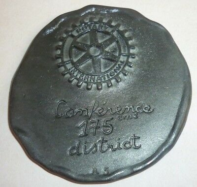 """Medaille """" ROTARY INTERNATIONAL- Conference 175eme District """" sign R S- 64mm"""