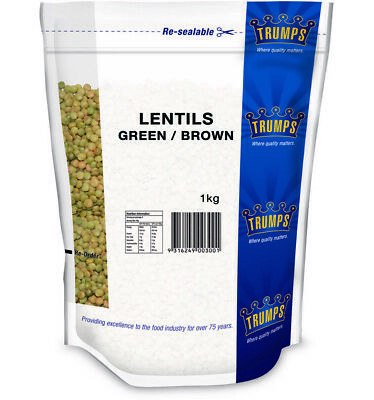 Trumps Green Brown Lentils 1kg
