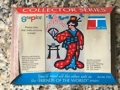 Vtg Tupperware Toys SNAPICS Collector Series Set No 222 JAPAN Friends of World