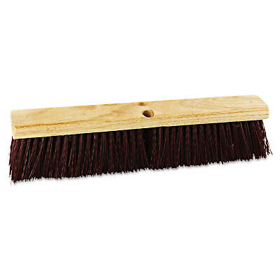 "Boardwalk Floor Brush Head 18"" Wide Maroon Heavy Duty Polypropylene Bristles"