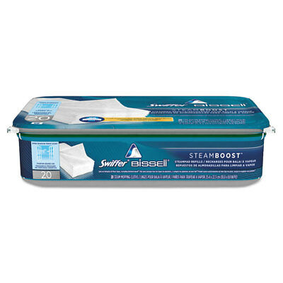 PGC85802CT Bissell SteamBoost Pad Refills, 10 x 9, White, 20/Pack, 6 Packs