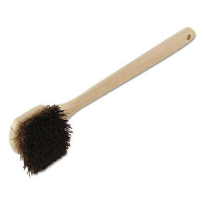 "Boardwalk Palmyra Bristle Utility Brush Plastic 20"" Tan Handle 4120"