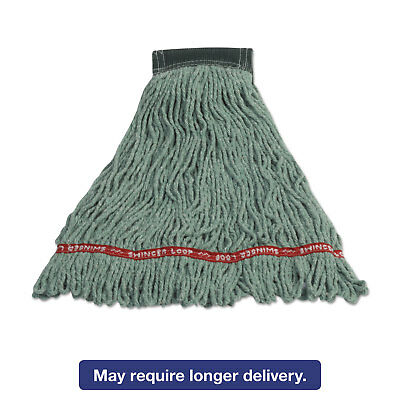 Rubbermaid Commercial Swinger Loop Shrinkless Mop Heads Cotton/Synthetic Green