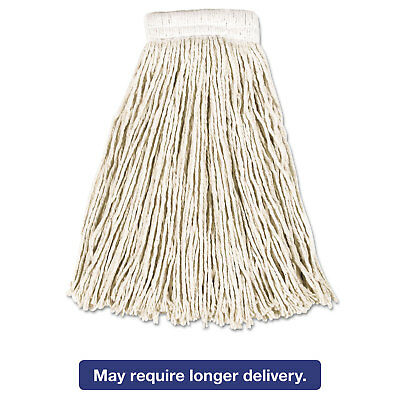 Rubbermaid Commercial Economy Cotton Mop Heads Cut-End White 16 oz 5-In White