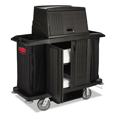 Rubbermaid Commercial Full Size Housekeeping Cart with Doors 22w x 60d x 67 1/2h